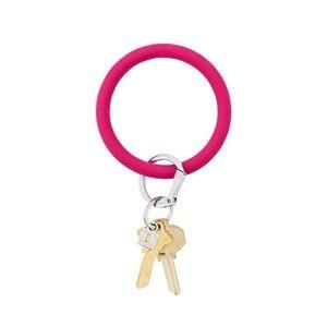 O Ring Dark Pink Silicone Key Ring